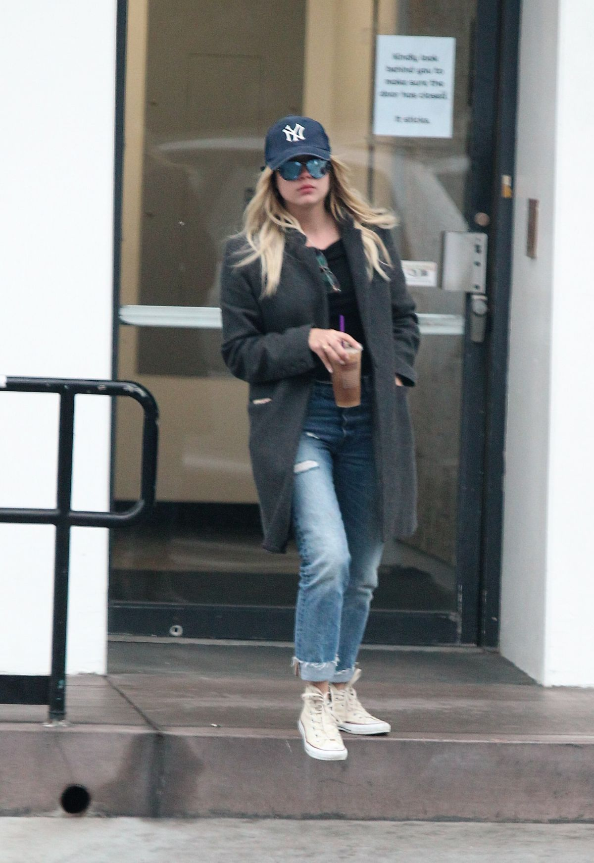 ASHLEY BENSON Leaves Coffee Bean in Los Angeles 05/30/2017