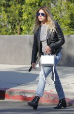 ASHLEY BENSON Leaves Hair Salon in Beverly Hills 05/09/2017