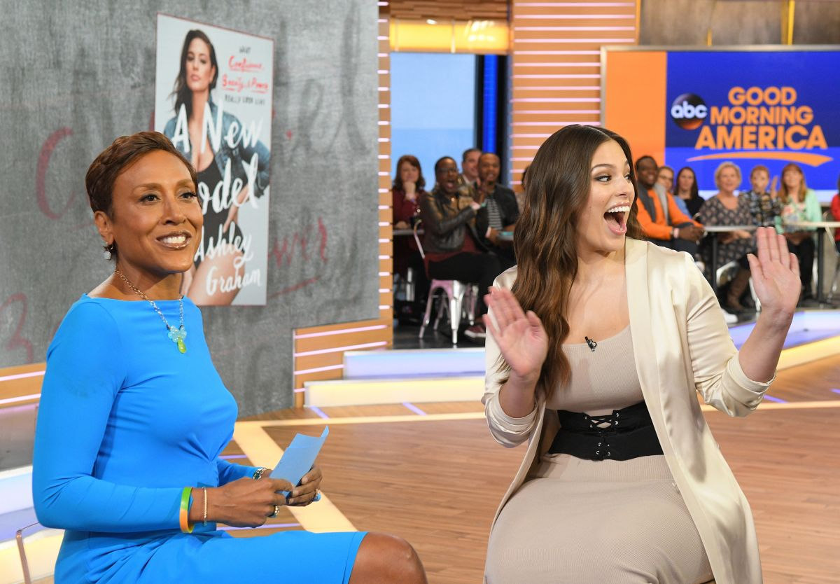 Good Morning America Photos : Ashley graham on the set of good morning america