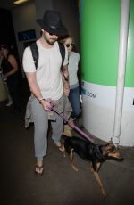 ASHLEY GREENE and Paul Khoury at LAX Airport in Los Angeles 05/03/2017