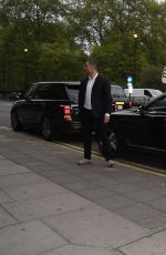 ASHLEY JAMES Arrives at Coya Restaurant in London 05/02/2017