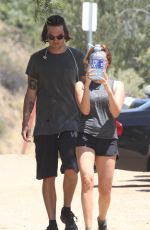 ASHLEY TISDALE and Christopher French Out Hiking in Los Angeles 05/04/2017