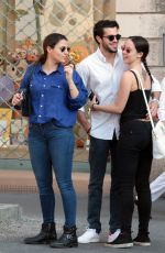 AURORA RAMAZZOTTI Out for Lunch with Her Boyfriend in Milan 05/28/2017