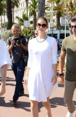 BARBARA PALVIN Leaves Hotel Martinez in Cannes 05/24/2017