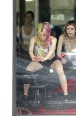 BELLA and DANI THORNE at a Pilates Class in Los Angeles 05/15/2017