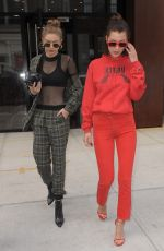 BELLA and GIGI HADID Out and About in New York 05/04/2017