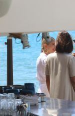BELLA HADID and HAILEY BALDWIN Out for Lunch in Cannes 05/17/2017