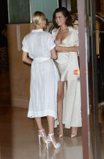 BELLA HADID and HAILEY BALDWIN Out in Cannes 05/17/2017