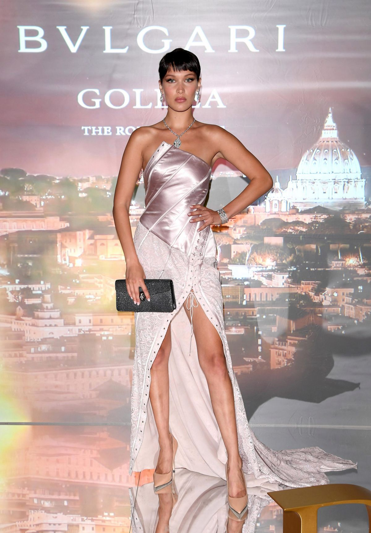 BELLA HADID at Goldea the Roman Night Cocktail  and Dinner in Rome 05/24/2017