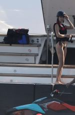 BELLA HADID in Bikini at a Yacht in Monaco 05/29/2017