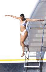 BELLA HADID in Bikini on a Yacht in Cannes 05/20/2017