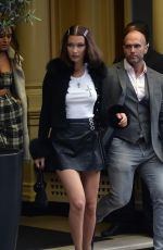 BELLA HADID Leaves Her Hotel in London 05/12/2017