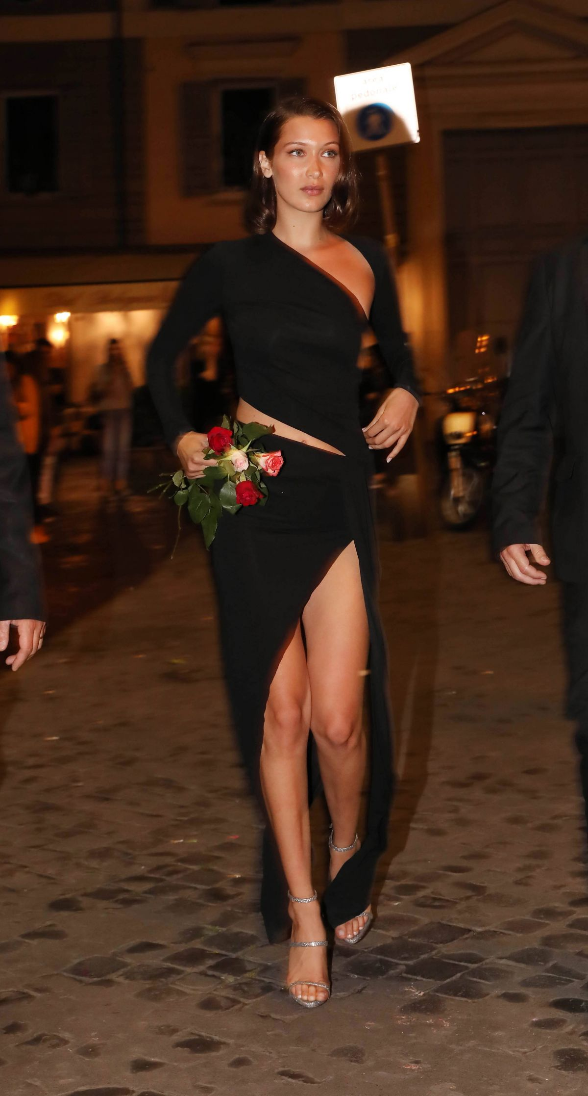 BELLA HADID Night Out in Rome 05/23/2017