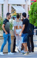 BELLA HADID Out and About in Cannes 07/27/2017