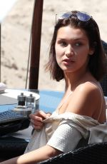 BELLA HADID Out for Lunch in Cannes 05/17/2017