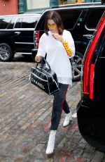 BELLA HADID Out in New York 05/05/2017