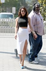 BETHENNY FRANKEL Arrives on the Set of Extra in Hollywood 0524/2017