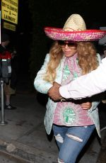 BEYONCE Leaves Gracias Madre in West Hollywood 05/05/2017