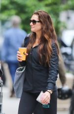 BROOKE SHIELDS Out for Coffee in New York 05/30/2017