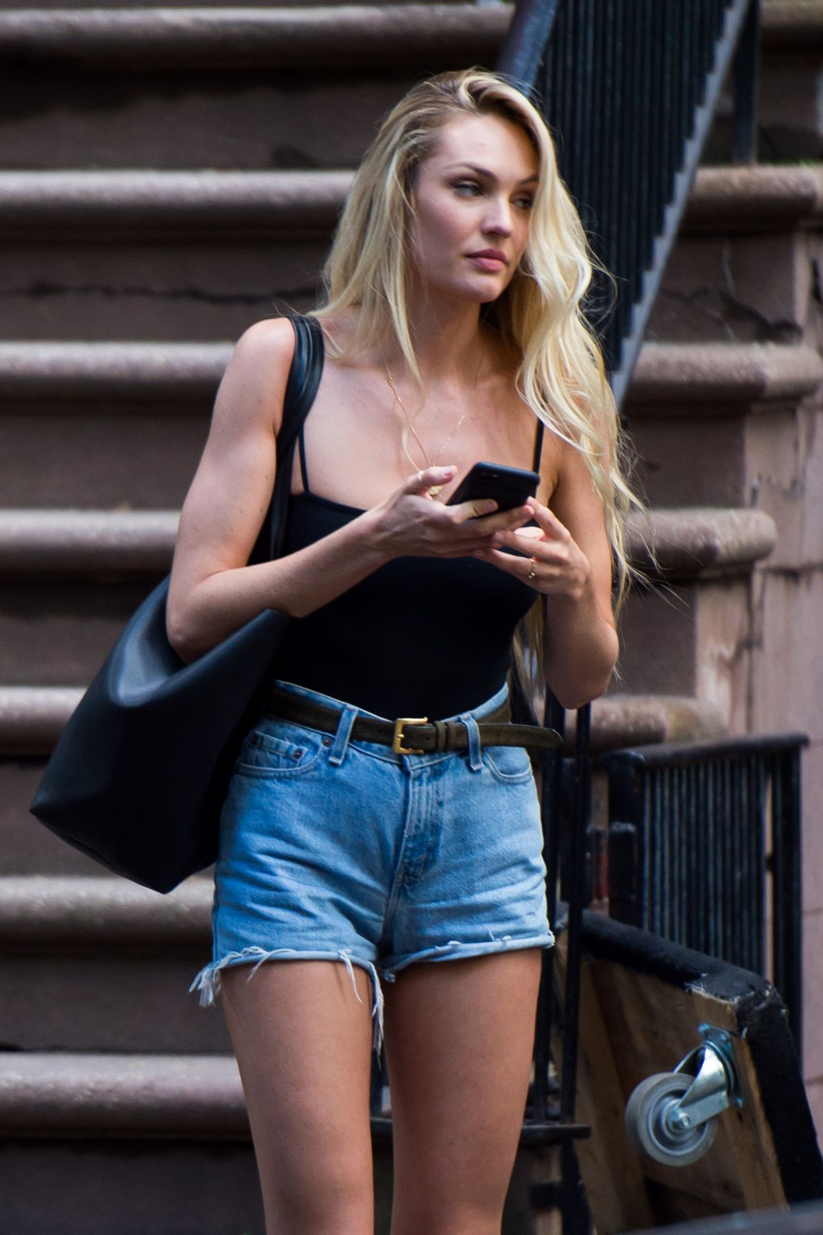 CANDICE SWANEPOEL Leaves a VS Photoshoot in New York 05/26/2017