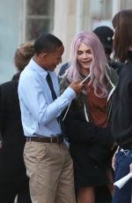 CARA DELEVINGNE and Jaden Smith on the Set of Life in a Year in Toronto 05/29/2017