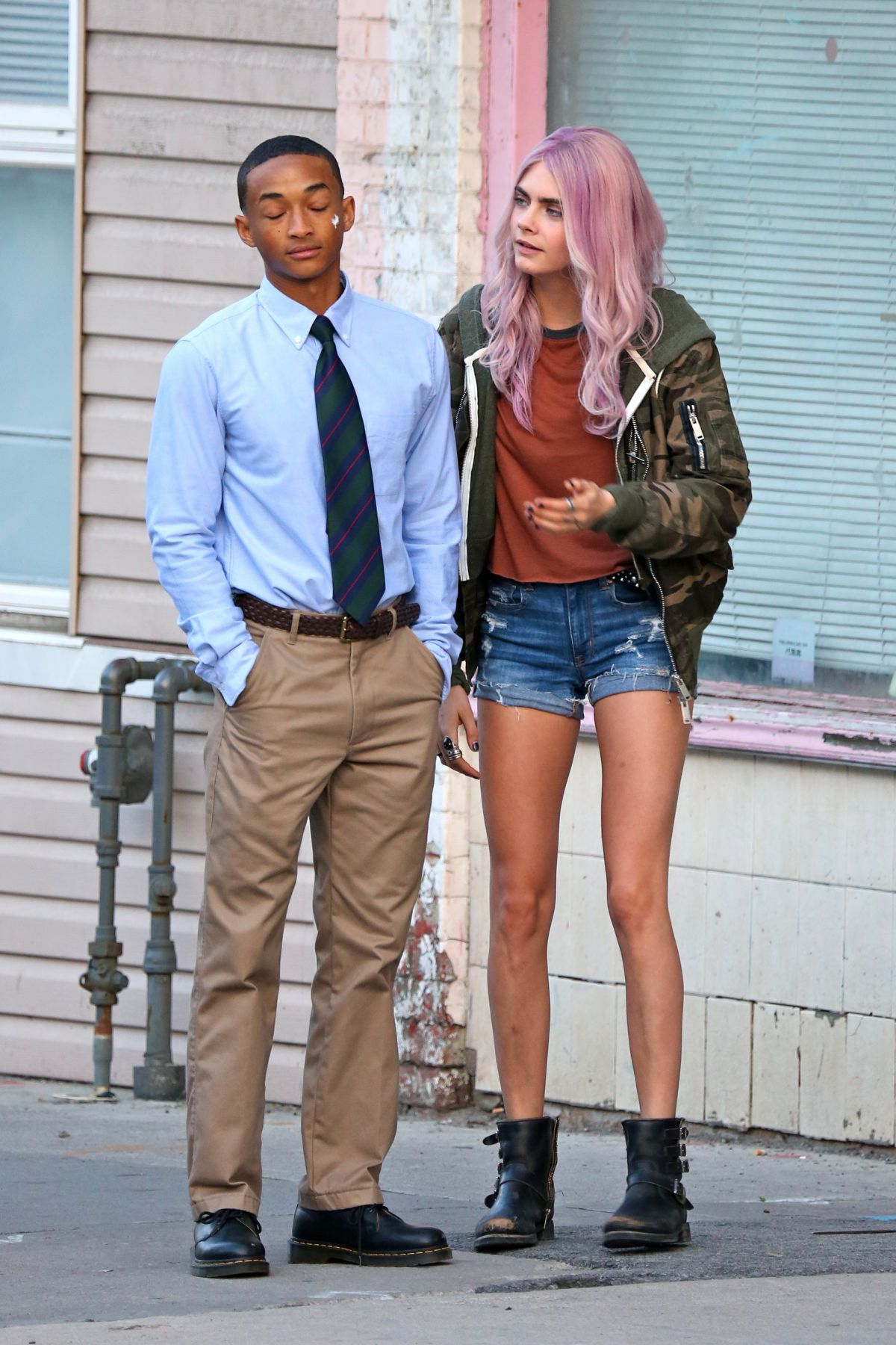 CARA DELEVINGNE and Jaden Smith on the Set of Life in a ...