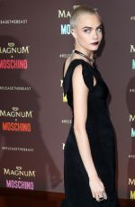 CARA DELEVINGNE at Magnum x Moschino Party at 70th Annual Cannes Film Festival 05/18/2017