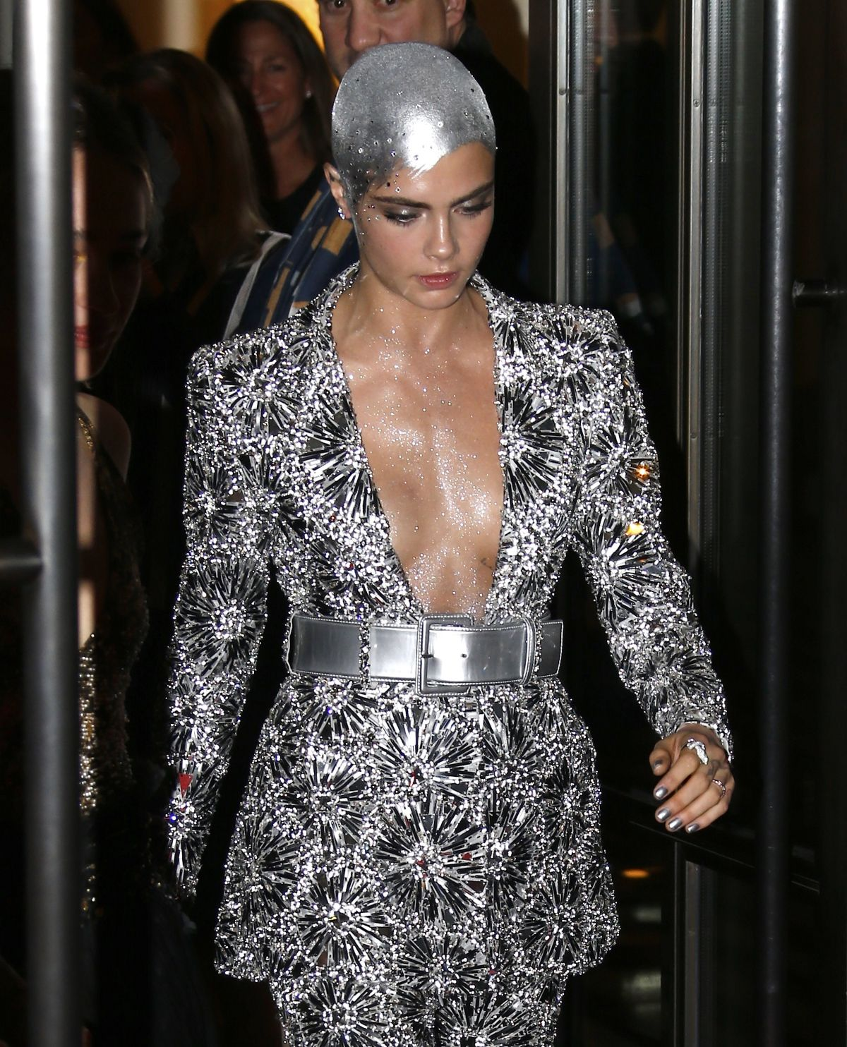 CARA DELEVINGNE on Her Way to MET Gala in New York 05/01/2017