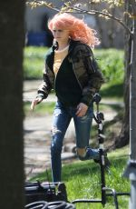 CARA DELEVINGNE on the Set of Life In A Year in Toronto 05/04/2017