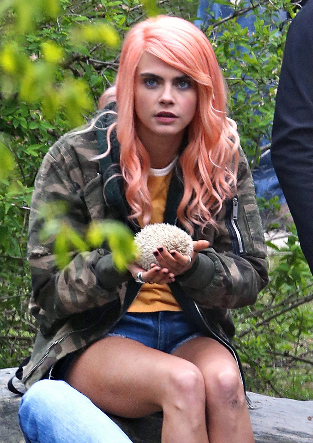 CARA DELEVINGNE on the Set of Life in a Year in Toronto 05/09/2017