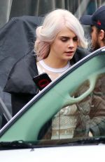 CARA DELEVINGNE on the Set of Life in a Year in Toronto 05/17/2017