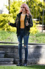 CARA DELEVINGNE on the Set of Life In A Year in Toronto 05/03/2017