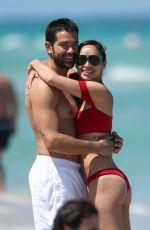 CARA SANTANA in Bikini and Jesse Metcalfe at a Beach in Miami 05/08/2017