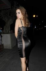 CARLA HOWE Night Out in London 05/28/2017