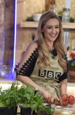 CATHERINE TYLDESLEY Cooking at BBC Demonstration in Blackburn 05/06/2017