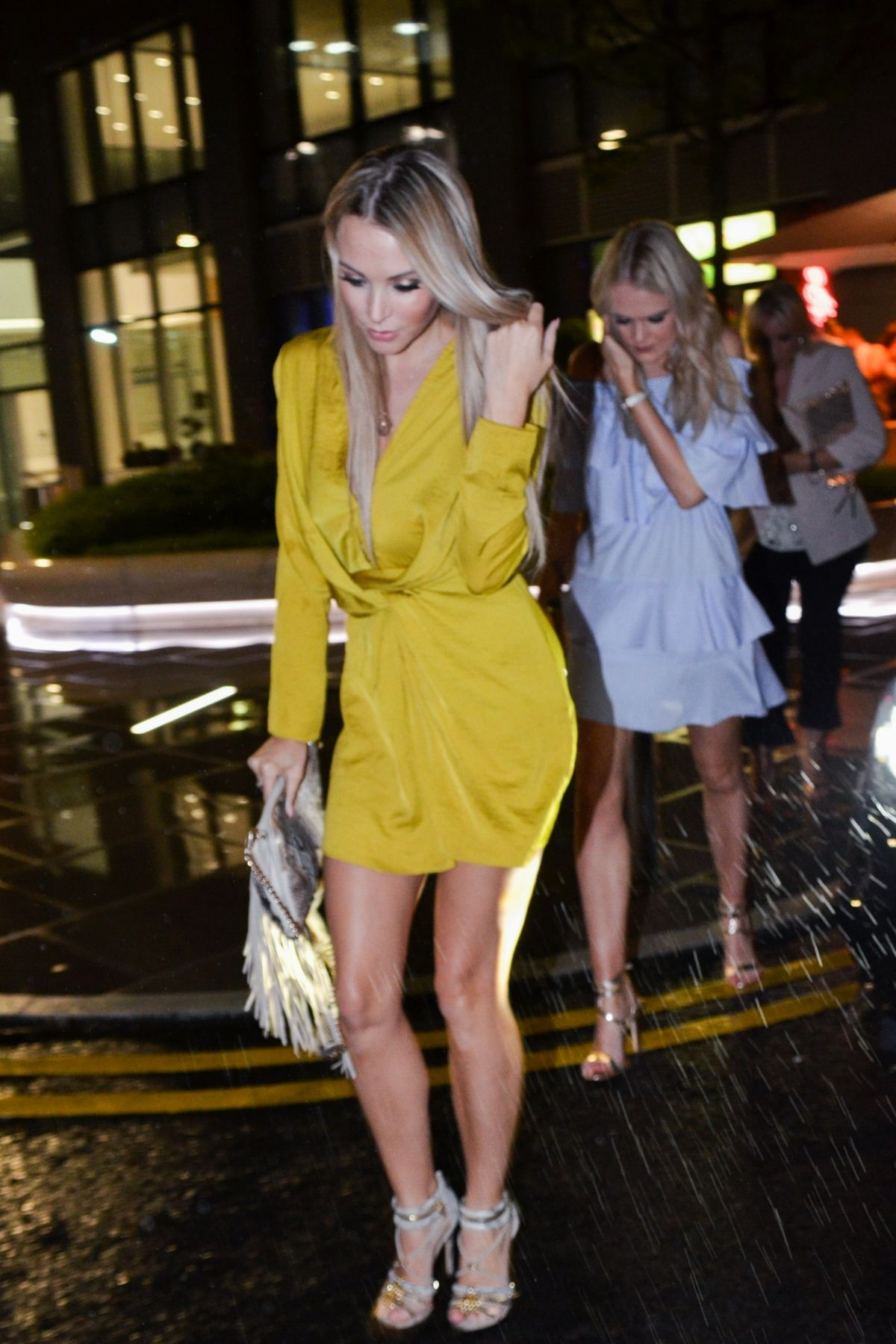 CAZ DAILY Leaves Menagerie Restaurant and Bar in Manchester 05/27/2017