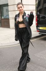CHARLI XCX Arrives at BBC Radio 1 in London 05/11/2017
