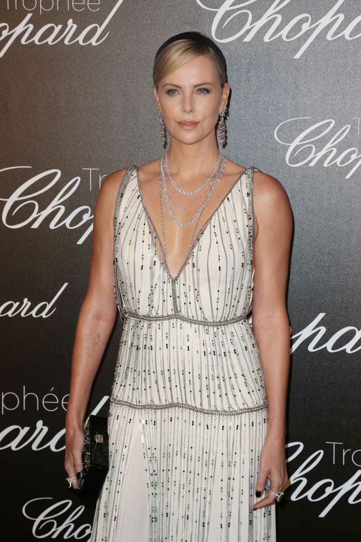 CHARLIZE THERON at Chopard Trophy Event in Cannes 05/22/2017