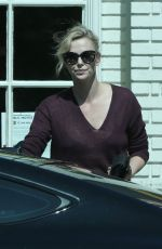 CHARLIZE THERON Out for Ice Cream at Salt and Straw in Los Angeles 05/12/2017