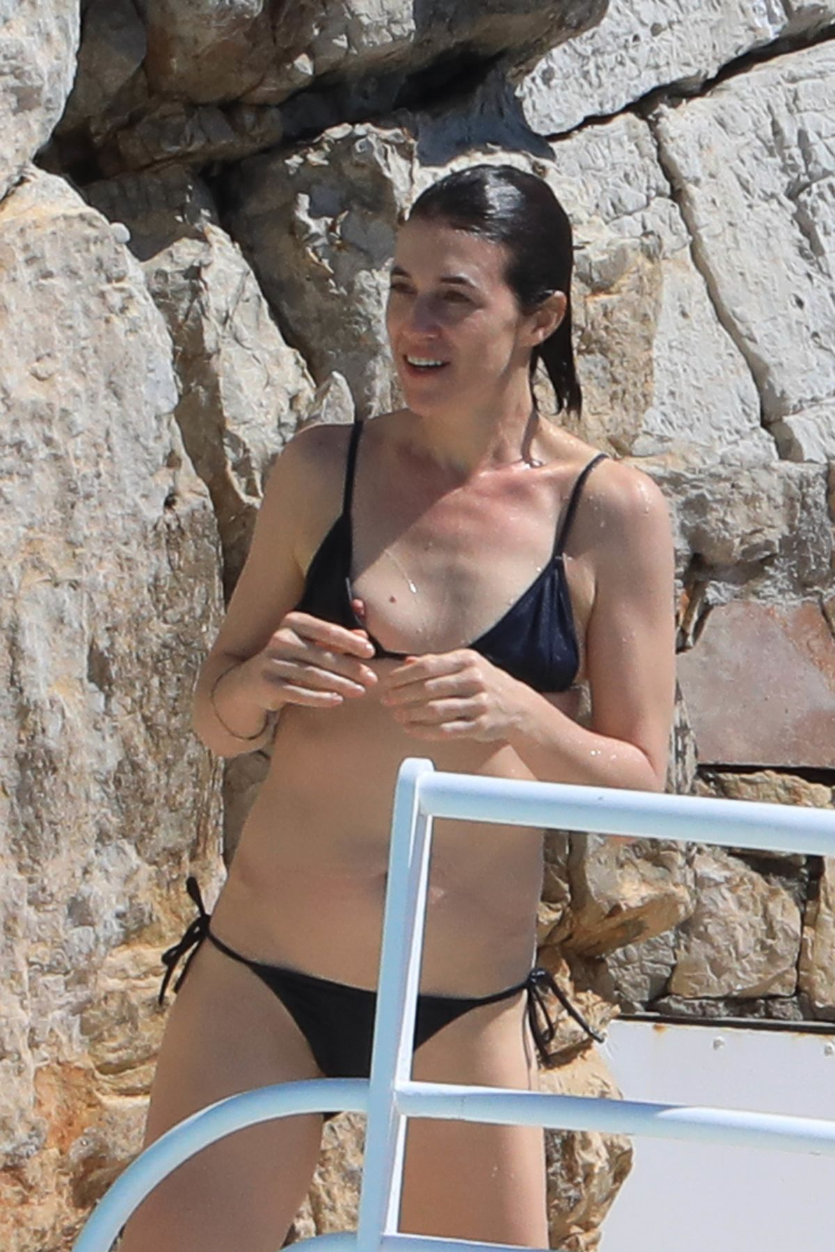 CHARLOTTE GAINSBOURG in Bikini at Hotel Du Cap Eden Roc in Antibes 05/21/2017