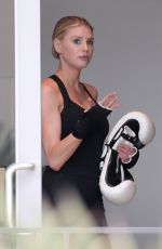 CHARLOTTE MCKINNEY Leaves a Gym in Los Angeles 05/24/2017
