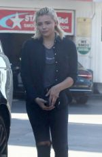 CHLOE MORETZ at a Gas Station in Studio City 05/01/2017