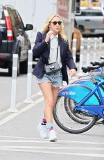 CHLOE SEVIGNY Riding a Citybike Out in New York 05/28/2017