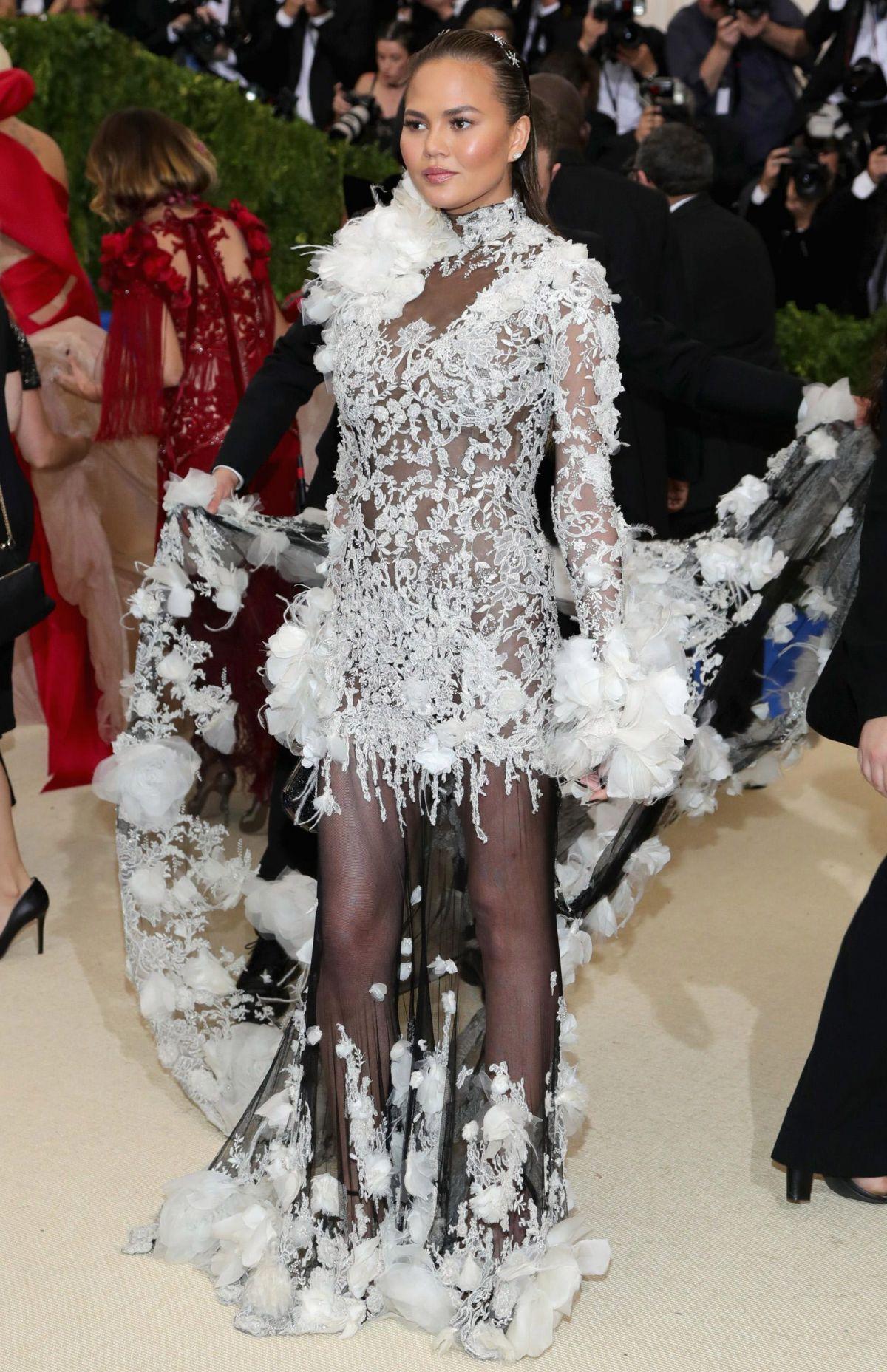 CHRISSY TEIGEN at 2017 MET Gala in New York 05/01/2017