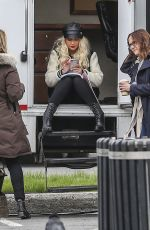 CHRISTINA AGUILERA on the Set of Zoe Movie in Toronto 05/12/2017