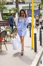 CINDY BRUNA Out on Croisette in Cannes 05/27/2017