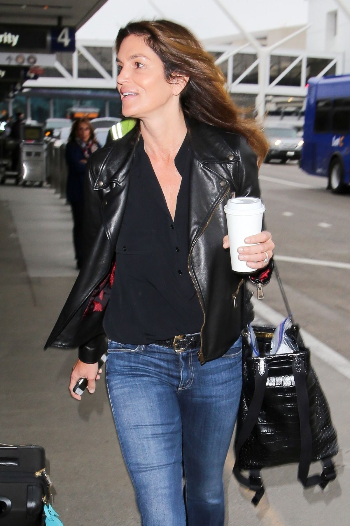 CINDY CRAWFORD at Los Angeles International Airport 05/30/2017