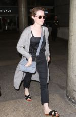 CLAIRE FOY at LAX Airport in Los Angeles 05/24/2017