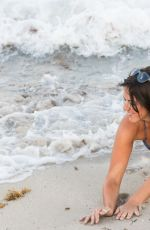CLAUDIA ROMANI in Bikini at South Beach in Miami 05/10/2017