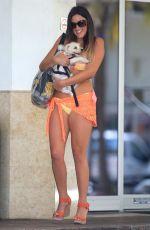 CLAUDIA ROMANI in Bikini with Her Dog Out in Miami 05/30/2017